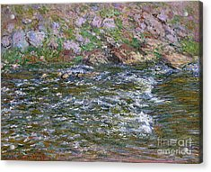 Rapids On The Petite Creuse At Fresselines, 1889 Acrylic Print by Claude Monet
