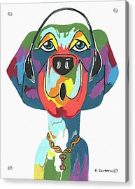 Rapping Rover - Funny  Dog Acrylic Print