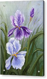 Rapsody Iris Acrylic Print by Marveta Foutch