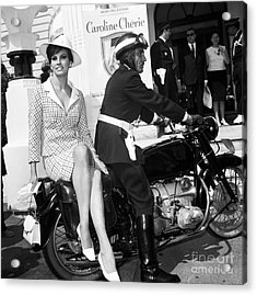 Raquel Welch At The Cannes Film Festival May 1966. Acrylic Print