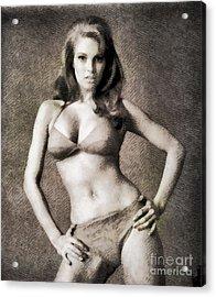 Raquel Welch, Vintage Hollywood Actress Acrylic Print