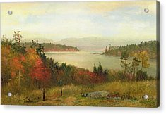 Raquette Lake Acrylic Print by Homer Dodge Martin