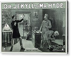 Rare Dr. Jekyll And Mr. Hyde Transformation Poster Acrylic Print by Carsten Reisinger