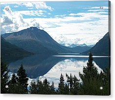 Rare Moment On Tutchi Lake Acrylic Print by Janet  Hall