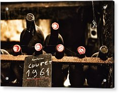 Rare Vintage Wine In The Cellar Acrylic Print by Georgia Fowler