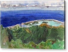Rarotonga, View From Te Manga Acrylic Print