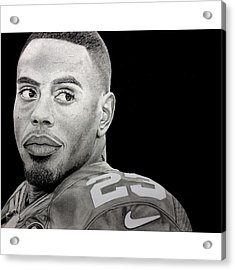 Rashad Jennings Drawing Acrylic Print