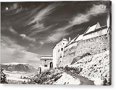 Rasnov Fortress Acrylic Print by Gabriela Insuratelu