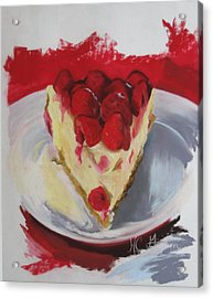 Raspberry And Cheese Acrylic Print by Marie-claude Gagnon