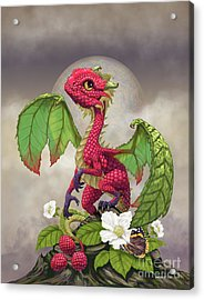 Acrylic Print featuring the digital art Raspberry Dragon by Stanley Morrison