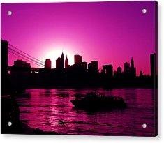 Raspberry Ice In Silhouette Acrylic Print