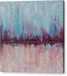 Acrylic Print featuring the painting Raspberry Parfait by Suzzanna Frank