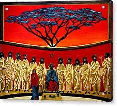 Rastafarian Last Supper Acrylic Print by EJ Lefavour