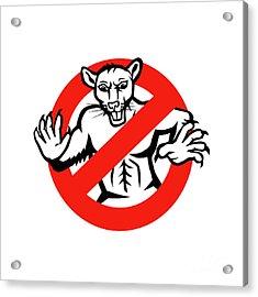 Rat Busted Stop Sign Retro Acrylic Print by Aloysius Patrimonio