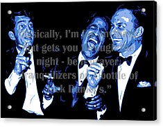 Rat Pack At Carnegie Hall With Quote Acrylic Print