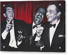 Rat Pack Acrylic Print by Luis Ludzska