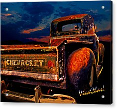 Rat Rod Chevy Truck Acrylic Print
