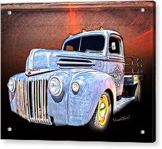 Rat Rod Flatbed Truck Texana Acrylic Print
