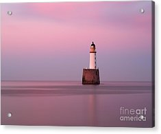 Rattray Head Lighthouse At Sunset - Pink Sunset Acrylic Print