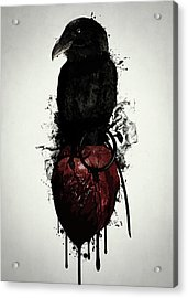 Raven And Heart Grenade Acrylic Print