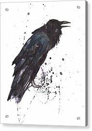Raven  Black Bird Gothic Art Acrylic Print