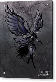 Acrylic Print featuring the digital art Raven Fairy by Stanley Morrison