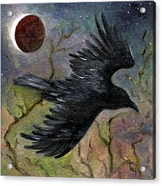 Raven In Twilight Acrylic Print