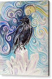 Raven Magic Acrylic Print