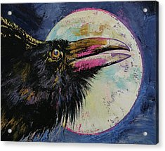 Raven Moon Acrylic Print by Michael Creese