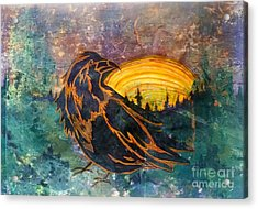 Raven Of The Woods Acrylic Print