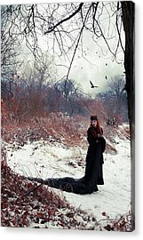 Raven Queen Acrylic Print by Cambion Art