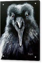 Raven Squawk Acrylic Print