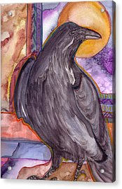 Raven Steals Sunlight Acrylic Print by K Hoover