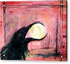 Raven Steals The Sun Acrylic Print