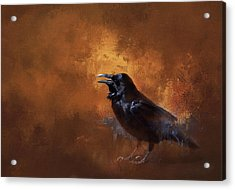 Acrylic Print featuring the painting Raven by Theresa Tahara