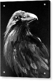 Raven Watching Acrylic Print