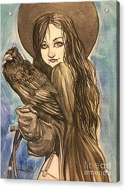 Raven Witch Acrylic Print