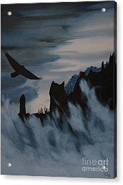 Raven Wolf Head Acrylic Print