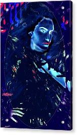 Acrylic Print featuring the digital art Raven Woman by Seth Weaver