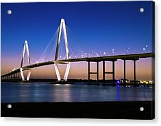 Acrylic Print featuring the photograph Ravenel Bridge 2 by Bill Barber