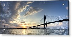 Ravenel Bridge Cooper River Sunset Acrylic Print