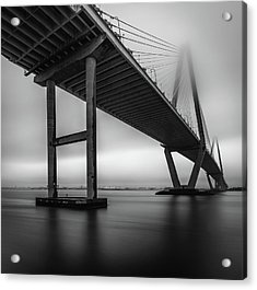 Ravenel Bridge November Fog Acrylic Print