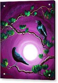 Ravens On A Summer Night Acrylic Print