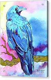 Acrylic Print featuring the painting Raven's Sight by Jo Lynch