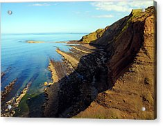 Ravenscar Cliffs Acrylic Print by Svetlana Sewell