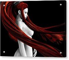 Ravishing Red Acrylic Print by Alexander Butler