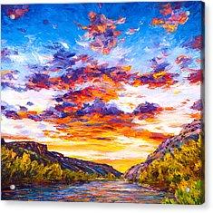 Ravishing River Acrylic Print by Steven Boone