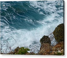 Raw Blue Power Acrylic Print by Margaret Brooks