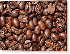 Raw Coffee Beans Background Acrylic Print