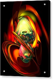 Raw Fury Abstract Acrylic Print by Alexander Butler
